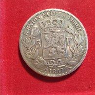 Belgio 5 Franchi 1867 - 1865-1909: Leopold II