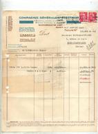 Lettre Facture Electricite Flamme  Nancy Cheque Sur Gandon - Marcophilie (Lettres)