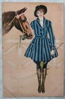 Illustrateur E. Colombo Femme Et Cheval - Art Déco 407 - Colombo, E.