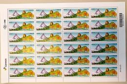 Brazil Stamp C 3875 Selo Relações Diplomáticas Brasil Suiça 2019 Folha SWITZERLAND MATTERHORN MOUNTAINS SHEET - Brazilië