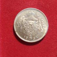 Belgio 20 Franchi 1934 - 11. 20 Francs & 4 Belgas