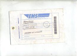 Etiquette Chronopost 33/44 Cachet Clermont Ferrand Cheques - Postdokumente