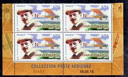 France PA  79a Caudron Bloc De 4 Coin Daté Feuillet De 10 2015  Neuf ** TB MNH Sin Charnela - Posta Aerea