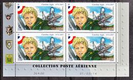 France PA  78a Caroline Aigle Bloc De 4 Coin Daté De Feuillet De 10 2014 Neuf ** TB MNH Sin Charnela - Aéreo