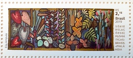 Brazil Stamp C 3877 Selo Relações Diplomáticas Brasil Finlândia Arte 2019 ART BY EILA AMPULA FINLAND - Brazilië