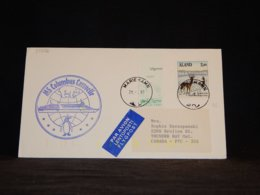 Aland 1992 Mariehamn MS Columbus Caravelle Cover__(L-33356) - Aland