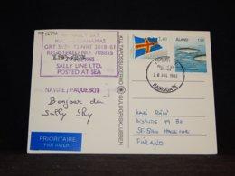 Aland 1993 Ramsgate M/S Sally Sky Paquebot Card__(L-32792) - Aland