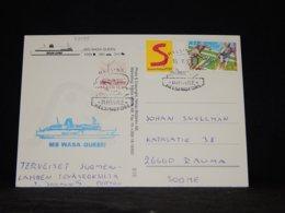 Aland 1999 Helsinki MS Wasa Queen Navire Card__(L-33095) - Aland