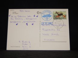 Aland 2000 Brändö M/s Alfågeln Card__(L-32904) - Aland