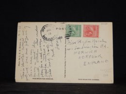 Antigua 1923 Paquebot Postcard To UK__(L-32477) - Antigua & Barbuda (...-1981)
