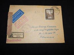 Austria 1947 Registered Censored Cover To Denmark__(L-31496) - 1945-.... 2a Repubblica