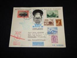 Belgium 1938 Sabena Air Mail Cover Via Elisabethville__(L-31529) - Airmail