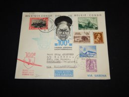 Belgium 1938 Sabena Air Mail Cover Via Elisabethville__(L-31529) - Posta Aerea