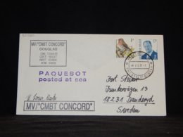 Belgium 1997 Karachi MV CMBT Concord Paquebot Cover__(L-33970) - België