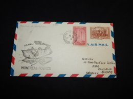 Canada 1939 Montreal-Foynes First Flight Cover__(L-31681) - 1937-1952 George VI