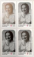 Brazil Stamp C 3878 Selo Mulheres História Aracy Guimarães Rosa 2019 Quadra Women Has Made History Block Of 4 - Brazilië
