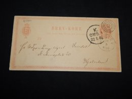 Denmark 1880 Haslev 8ö Brown Stationery Card__(L-31384) - Postal Stationery