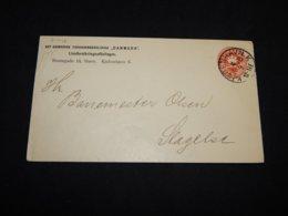 Denmark 1894 8ö Red Stationery Envelope__(L-31446) - Interi Postali