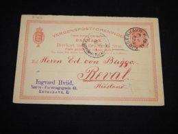 Denmark 1895 Köbenhavn 10ö Red Stationery Card To Estonia__(L-31462) - Postal Stationery