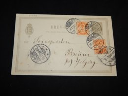 Denmark 1903 Roslev 3ö Grey Stationery Card__(L-31374) - Postwaardestukken