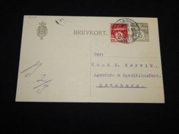 Denmark 1916 Aalborg 3ö Grey Stationery Card__(L-31411) - Postwaardestukken