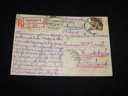Denmark 1917 Köbenhavn Registered Postcard To Finland__(L-31336) - 1913-47 (Christian X)