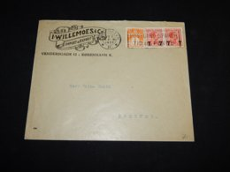 Denmark 1927 Köbenhavn I.Willemosse Business Cover__(L-31595) - Brieven En Documenten
