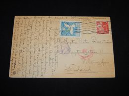 Denmark 1940 Köbenhavn Censored Postcard To Finland__(L-31337) - 1913-47 (Christian X)