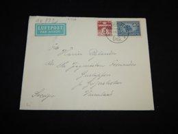Denmark 1942 Köbenhavn Censored Air Mail Cover To Sweden__(L-31526) - Luchtpostzegels