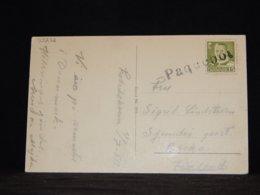 Denmark 1950 Paquebot Card To Finland__(L-33272) - Denemarken