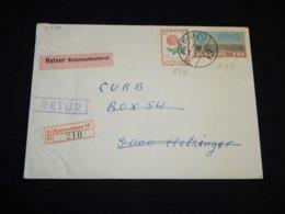 Denmark 1963 Köbenhavn Registered Retour Cover__(L-31588) - Dinamarca