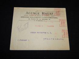 France 1925 Paris Agence Havas Business Cover__(L-31611) - France