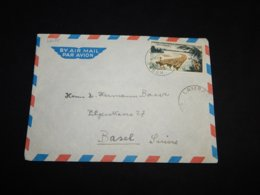 French Equatorial Africa 1960's Lambarene Air Mail Cover To Switzerland__(L-32035) - A.E.F. (1936-1958)