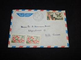 Gabon 1962 Lambarene Air Mail Cover To Switzerland__(L-32036) - Gabon (1960-...)