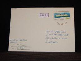 Germany (Democratic Republic) 1989 Rahja MS Wolgast Navire Cover__(L-34342) - Brieven En Documenten