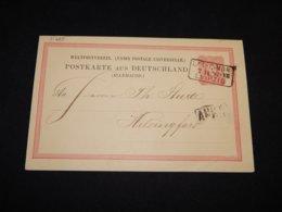 Germany 1882 Leipzig 10pf Red Stationery Card To Finland__(L-31269) - Postwaardestukken