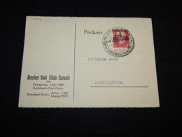 Germany 1930 Eisenach Perfin Stamp Card__(L-31644) - Duitsland