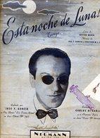 """PARTITURAS """"ESTA NOCHE DE LUNA!..."""" TANGO. LETRA DE HECTOR MARCO. MUSICA DE JOSE F. GARCIA Y GRACIANO M. L. GOMEZ - NTVG - Partituras"""