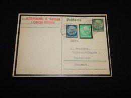 Germany 1934 Lorch Hermann E.Sieger Business Card__(L-31883) - Briefe U. Dokumente