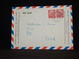 Germany BRD 1957 Kiel-Holtenau Air Mail Cover To Finland__(L-32357) - Cartas