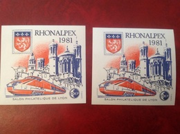 France NEUF ** Sans Charnière 2 Feuillet CNEP Rhonalpex 1981 Lyon - Andere
