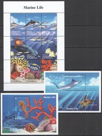 C967 ANTIGUA & BARBUDA FAUNA FISH & MARINE LIFE #2000-8 !!! MICHEL 18.5 EURO !!! 1KB+2BL MNH - Mundo Aquatico