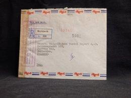 Iceland 1940's Reykjavik Registered Cover To Netherlands__(L-32274) - Lettres & Documents