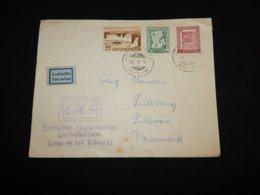 Iceland 1956 Husavik Air Mail Cover To Denmark__(L-31494) - Poste Aérienne