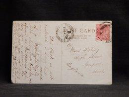 India 1908 Sea Post Office Postcard To UK__(L-32204) - Sonstige