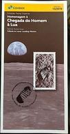 Brazil Stamp Brochure Edital 2019 13 Homenagem à Chegada Do Homem à Lua Sem Selo Moon Without Stamp - Brazilië