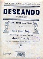 "PARTITURAS ""DESEANDO (YEARNING)"" FOX-TROT PARA PIANO. MUSICA DE BENNY DAVIG. - NTVG - Partituras"