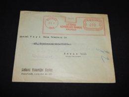 Lithuania 1937 Kaunas Meter Mark Cover__(L-31651) - Litouwen