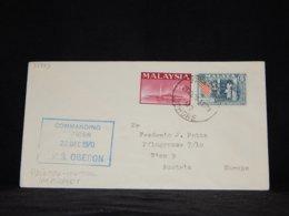 Malaysia 1970 Johore H.M.S. Oberon Cover__(L-33443) - Malaysia (1964-...)