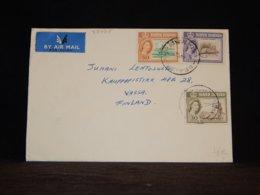 North Borneo 1963 Beaufort Air Mail Cover To Finland__(L-33035) - North Borneo (...-1963)